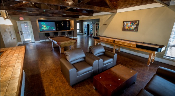 Game Room at Outpost Apartments