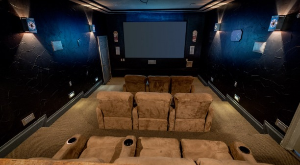 Theater Room at Waco Apartment